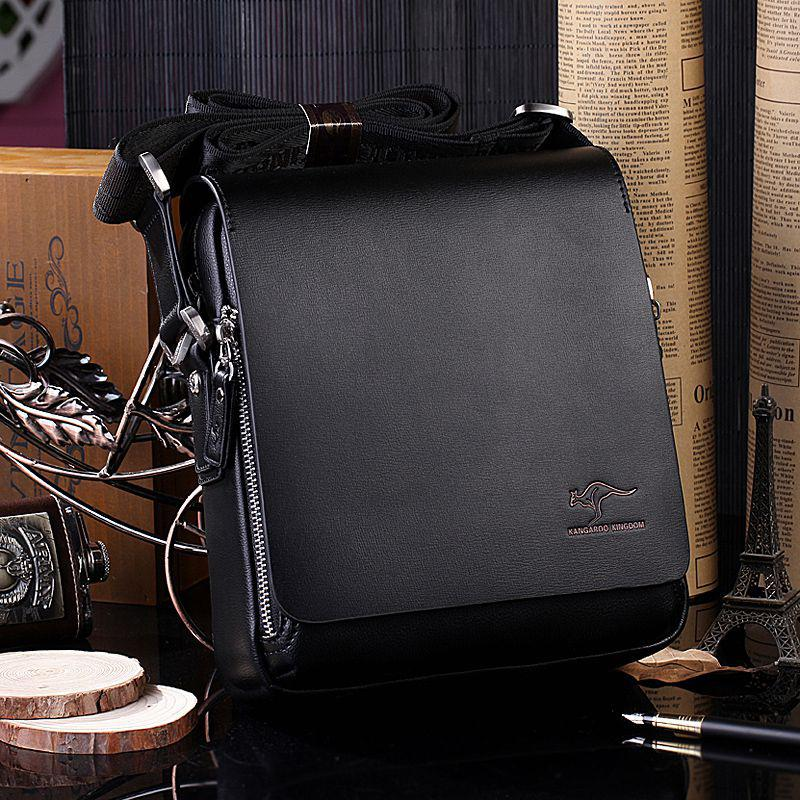 PinShang Men Handbag New Arrived Brand Kangaroo Men's Messenger Bag Vintage Leather Shoulder Bag Handsome Crossbody Bag ZK50