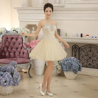 TS Couture Ball Gown Sweetheart Short Mini Chiffon Beaded Lace Cocktail Party Dress With Crystal Detailing