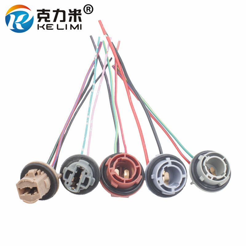 Car LED Light Bulbs Holder Socket Plug Adapter Wiring Harness Connector P21W 7528 1156 1157 BA15S BAY15D BAU15S 7440 7443 T20