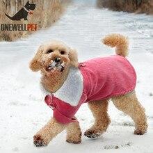 Купить с кэшбэком Winter Dog Clothes Pet Cat Supplies Plush Winter Apparel Pet Hoodie Dog Jumpsuit Coral Fleece Suit Hoodies Coat Apparel Costume