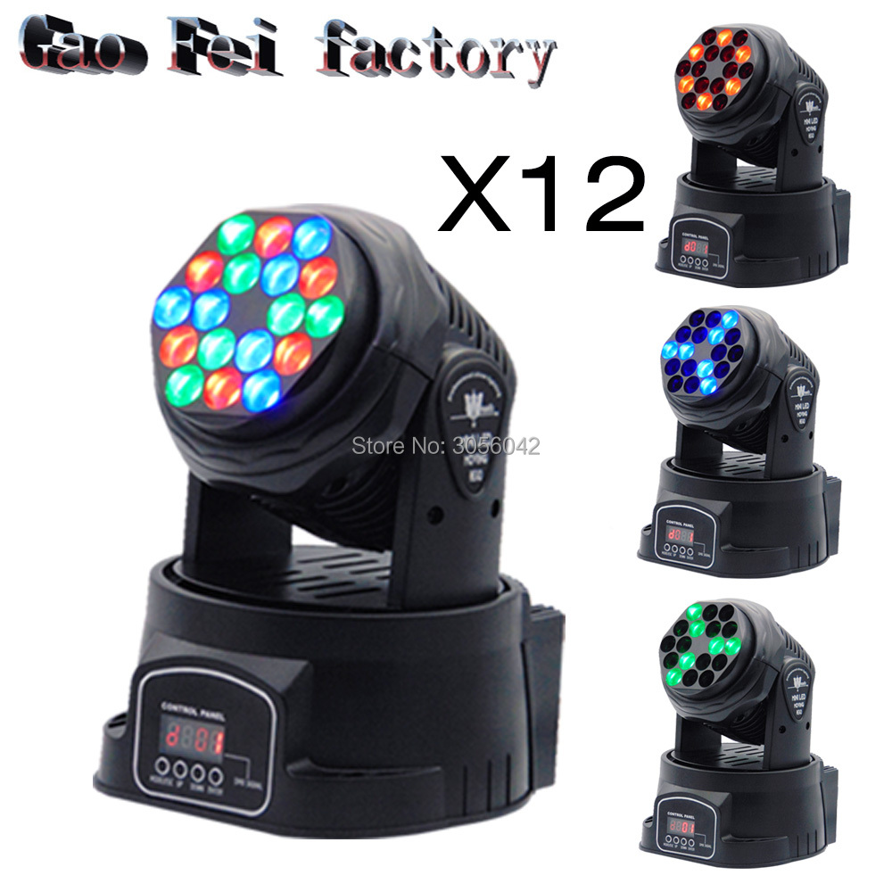 12pcs/lot Led Beam moving head lights china RGB 18X3W RGB LED Beam DMX 13 Channels Moving Head Light led dmx mini beam moving head light dj light mobil light 7x12w rgb led beam moving head with 16 channels