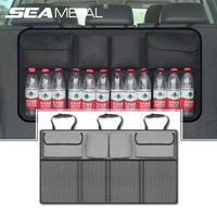 Car Organizer Trunk Back Seat Storage Bag Universal Mesh Net Pocket Stowing Tidying Automobile Backseat Auto