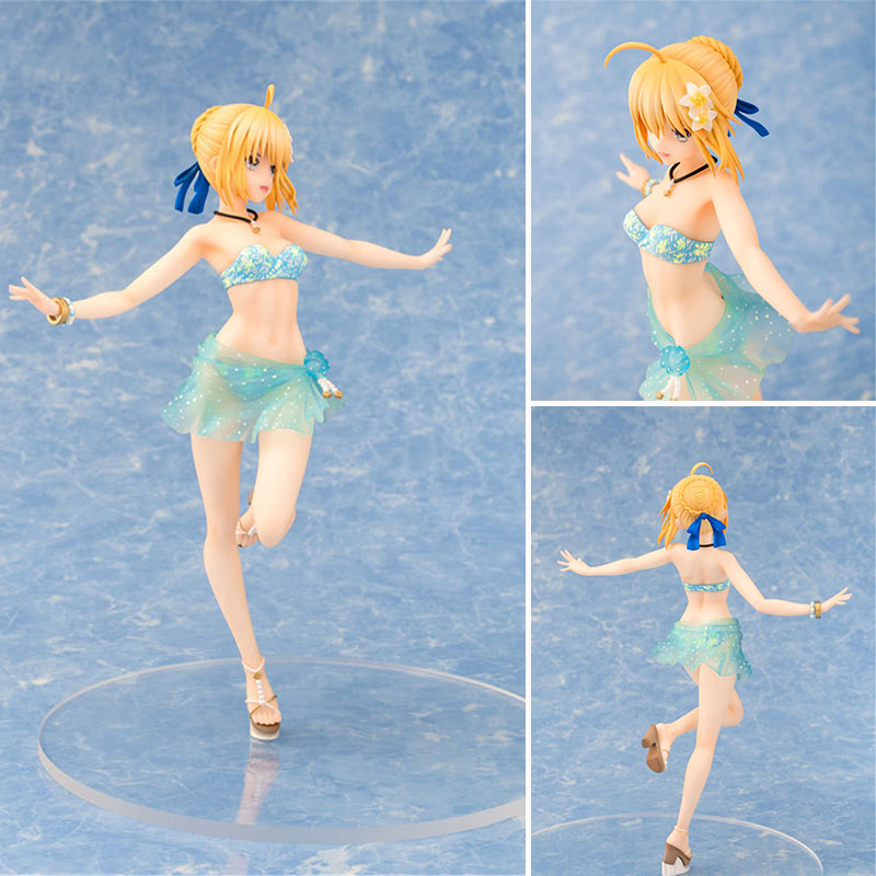 Toys & Hobbies Pvc Action Figure Collection Model Toy Dashing Anime Fate Stay Night Figure Fate Extella Saber Blue Swimsuit The Summer Vacation Ver