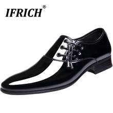 Classic Oxford Shoes Man Party Footwear Italian Style Men Patent Leather Dress 2019 Pointed Toe Wedding for
