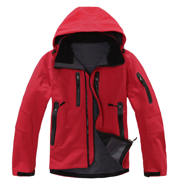 c977b95d5 2018 Waterproof Softshell Jacket Men's Windbreaker Breathable Fleece Warm  Rain Coat Outdoor Camping Fishing Hunting Jackets-in Hiking Jackets from ...