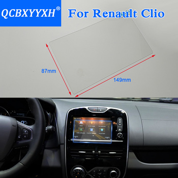 QCBXYYXH Car Styling 7 Inch GPS Navigation Screen Glass Protective Film For Renault Clio RS Control of LCD Screen Car Sticker image