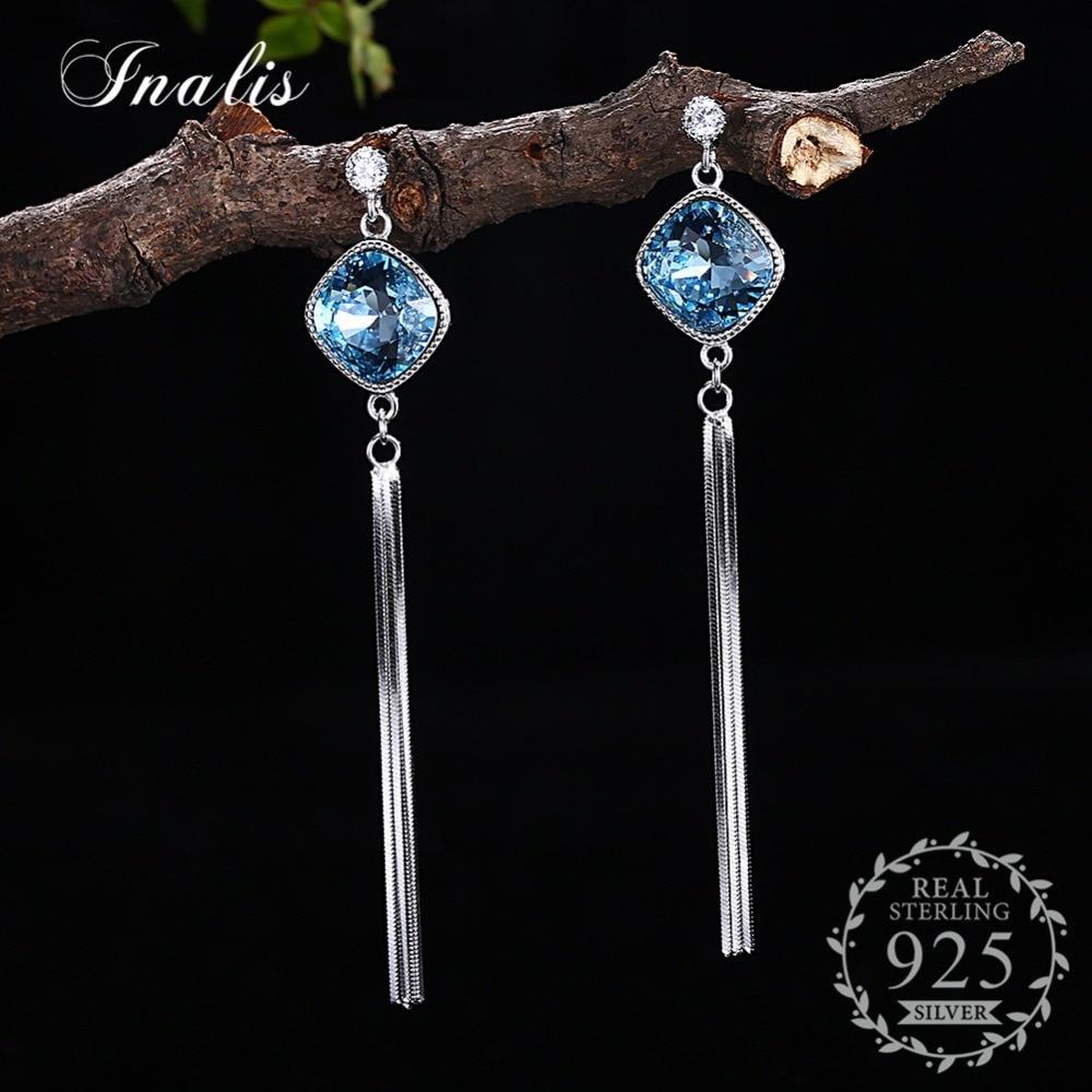 03019c2fe Aliexpress.com : Buy Tassel Earrings For Women LEKANI Crystals From Swarovski  Luxury S925 Sterling Silver 2018 pulseira feminina from Reliable Drop  Earrings ...