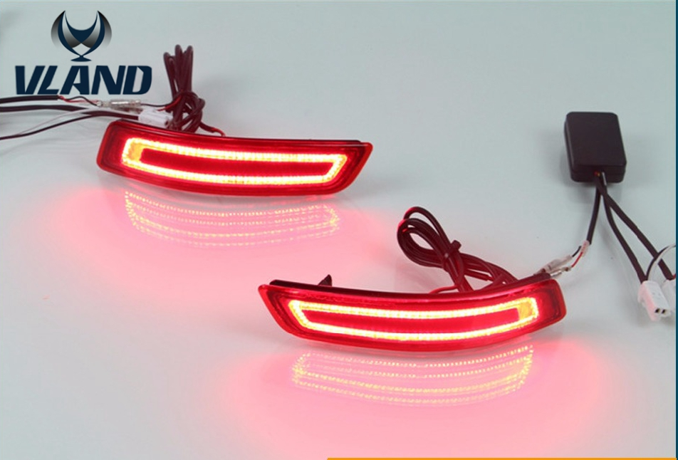 Free shipping vland factory for Corolla 2014-2015 warning light  automobile Car LED Brake Light /rear bumper warning lights