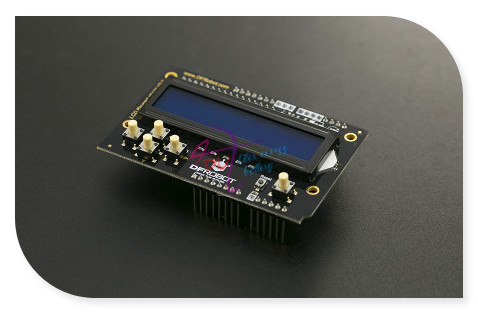 DFRobot LCD Keypad Shield V2.0, 5V include 1602/2x16 blue LCD display and 6 buttons compatible with Arduino UNO/Leonardo/Mega favourite 1602 1f