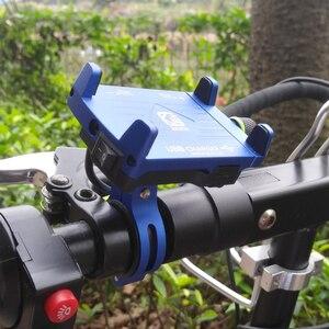 Image 2 - אלומיניום עם USB טעינת פונקצית אופנוע אופניים מחזיק טלפון סוגר עבור Iphone xs xr טלפון מחזיק GPS מכשיר 3.5  6.2 אינץ