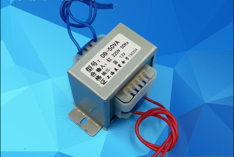 6V/9V/12V/15V/18V/20V/24V/28V/36V/110V/220V power transformer 220V input 50VA EI66 Transformer Safe isolation anti-interference cowather new 100