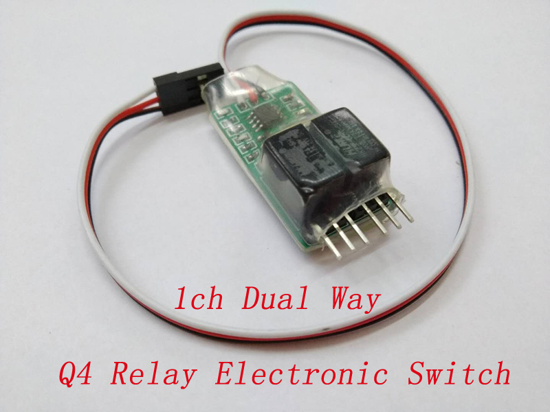1/2/4PCS New Q4 1CH Dual Way Relay Switch Max 2A LED Electronic Module for RC Aircraft Drone Quad 5V Receiver DIY Acc image