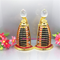 15ml perfume bottle empty arabic gift Burj Al Arab Dubai colored glass perfume bottles vintage wholesale mini crystal bottle