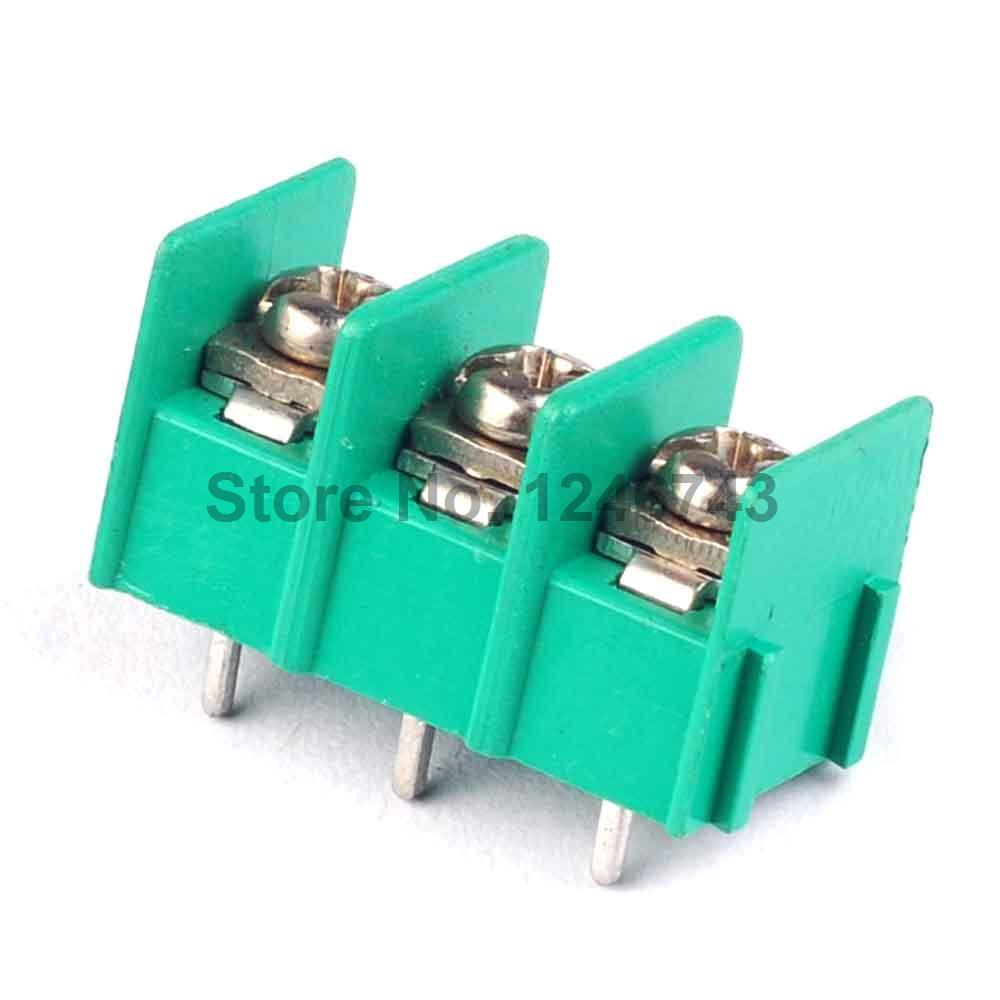 10PCS KF7.62-3P 7.62mm Pitch Connector PCB Screw Terminal Block Connector  3Pin