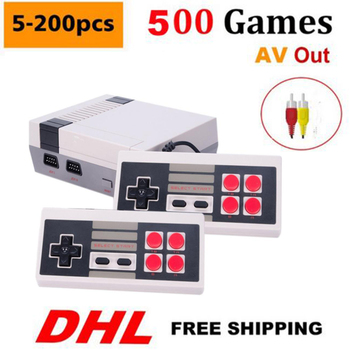 5-200pcs CoolBaby AV Out Retro Classic Mini Console 500 Different 8bit Games Buit-in dual Gamepad
