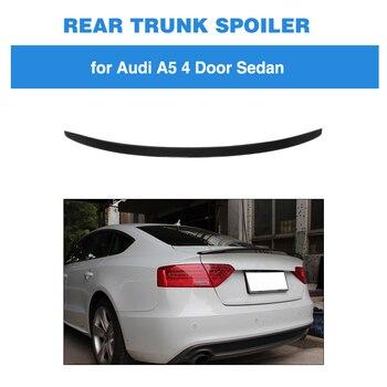 Spoiler voor Audi A5 Sedan 2009-2016 Carbon Fiber Kofferbak Lip