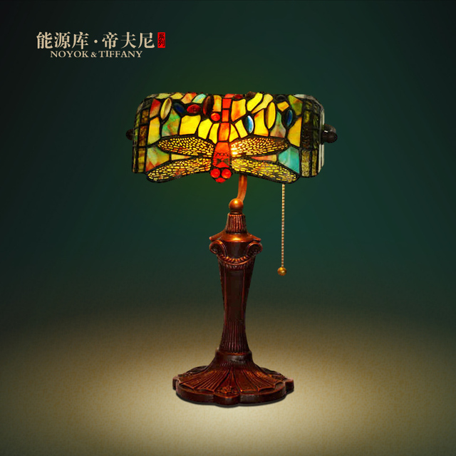 Tiffany Lamp Lights Republic Bank Office Desk Lamp Table Lamp Decorated Western  Style Retro Creative Study