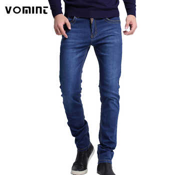 2019 New Mens brand jeans Fashion Men Casual Slim fit Straight High Stretch Feet skinny jeans men black hot sell male trousers - Category 🛒 Men\'s Clothing