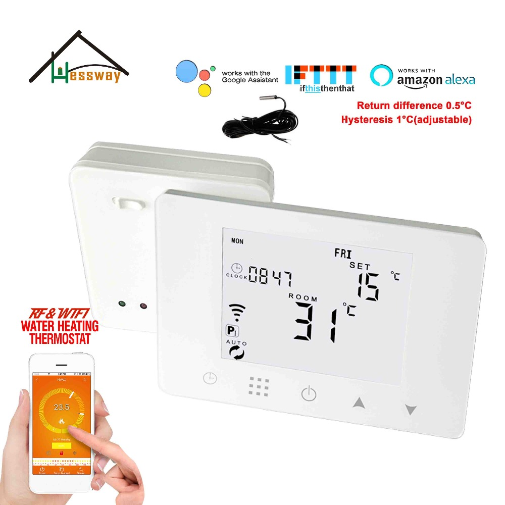 TUYA APP 5A Dry contact/Passive contact wifi&RF wireless thermostat boiler for Excellent quality best sellTUYA APP 5A Dry contact/Passive contact wifi&RF wireless thermostat boiler for Excellent quality best sell
