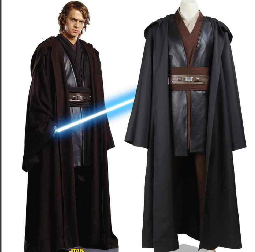 Custom Made Adult Star Wars Costume Anakin Skywalker Cosplay Halloween Carnival Party Costume With Glove