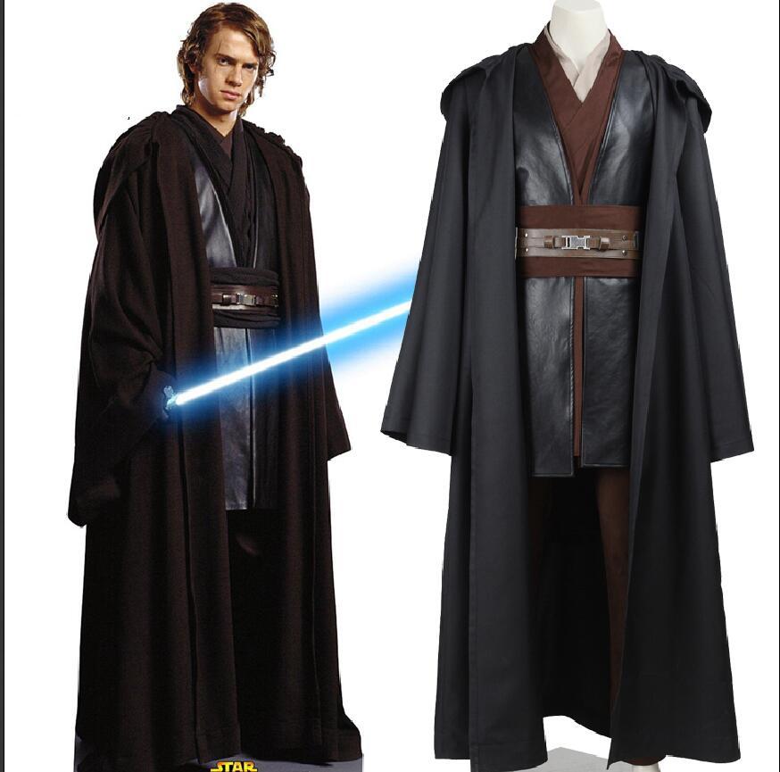 Disfraz para adultos de Star Wars Anakin Skywalker Cosplay disfraz de fiesta de Carnaval de Halloween con guante