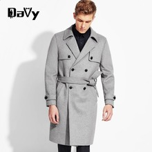 New Arrival Winter Customized Wool Trench Men Suits Dress Jackets Men Casual Long Thicken Wool Coat Warm Men's Clothing Trench