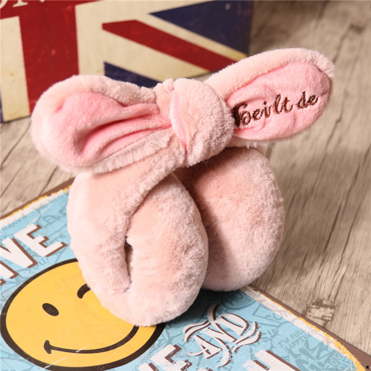 2017 Elegant Rabbit Fur Winter Earmuffs For Women Halloween Warm Earmuffs Ear Warmers Gifts For Girls Cover Ears Fashion Brand