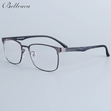 Bellcaca Spectacle Frame Men Eyeglasses Nerd Computer Optical Transparent Clear Lens Eye Glasses Frame For Male Eyewear 12010(China)