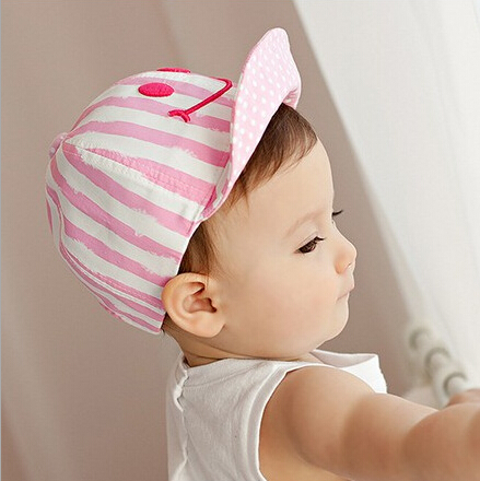 4744870562e Cute Autumn Newborn Baby Hat Girl Boy Smile Striped Baseball Cap Infant  Winter Cotton Unisex -in Hats   Caps from Mother   Kids on Aliexpress.com
