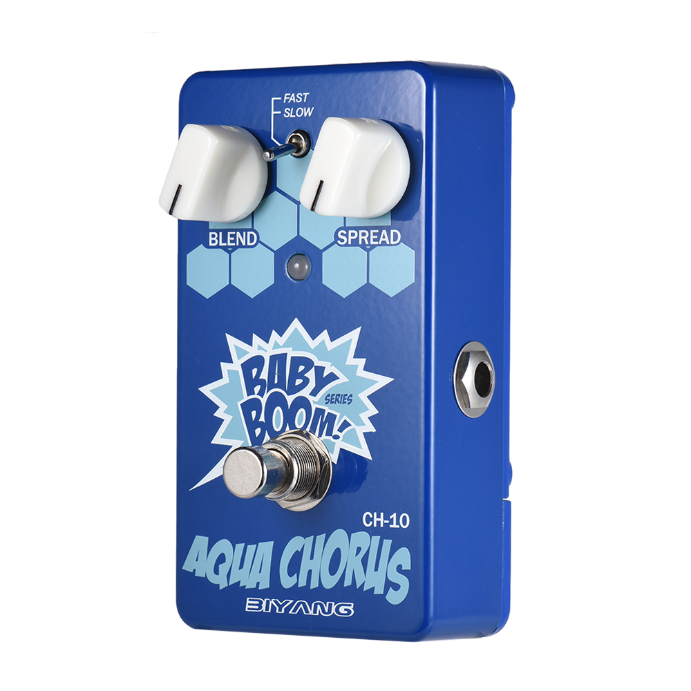 BIYANG CH-10 pédale d'effet de guitare conception de circuit compact intelligent bébé BOOM série analogique Chorus véritable contournement coque en métal