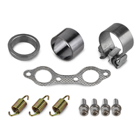 UTV Exhaust Muffler Repair Kit for Polaris RZR S 800 INTL EFI POWERSTEERING EFI INTL Manifold Bolts Gasket Seal Clamp Springs