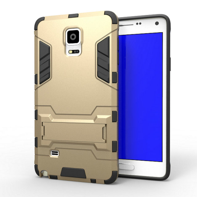 pretty nice 52a85 53dcc US $2.74 45% OFF|For Samsung Galaxy Note 4 Case N910c Slim Hard Back Phone  Case Robot Armor Protector Silicone Rubber Cover For Samsung Note 4-in ...