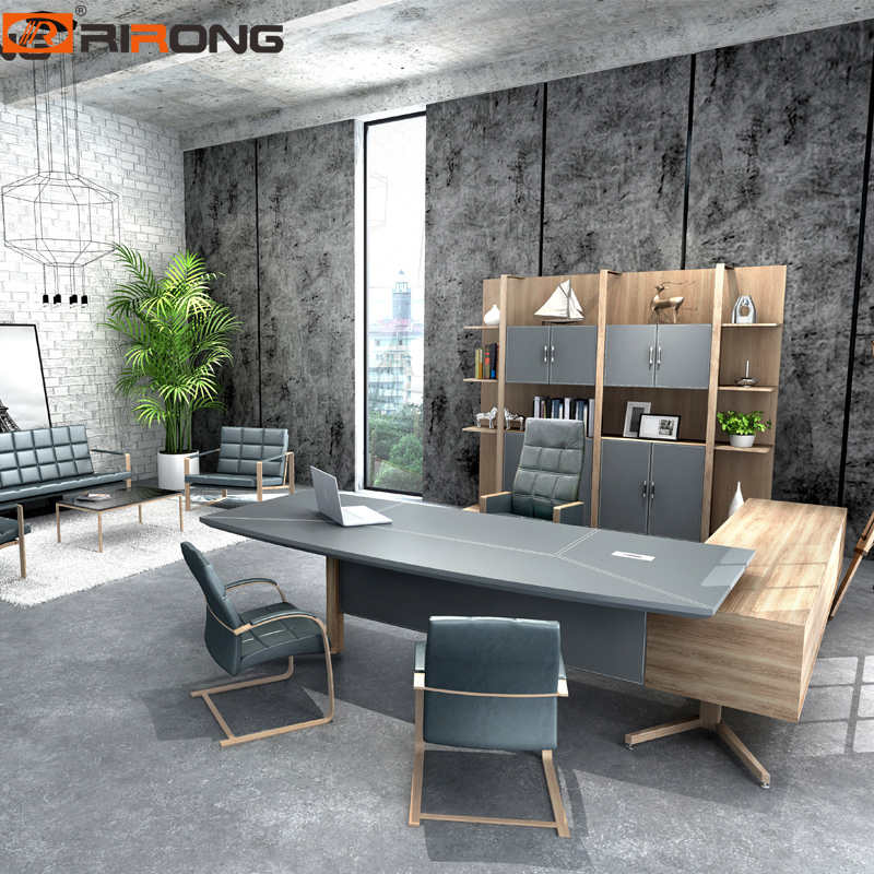 Europe Style Small Size Grey Color Office Furniture Set Computer Tables Laptop Table Executive Manager Table Desk