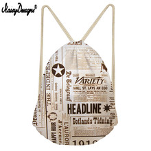 Noisydesigns 3D Picture Print custom portable Drawstring bag Men's shoes bag Ladies travel bag high quality Men's Backpack