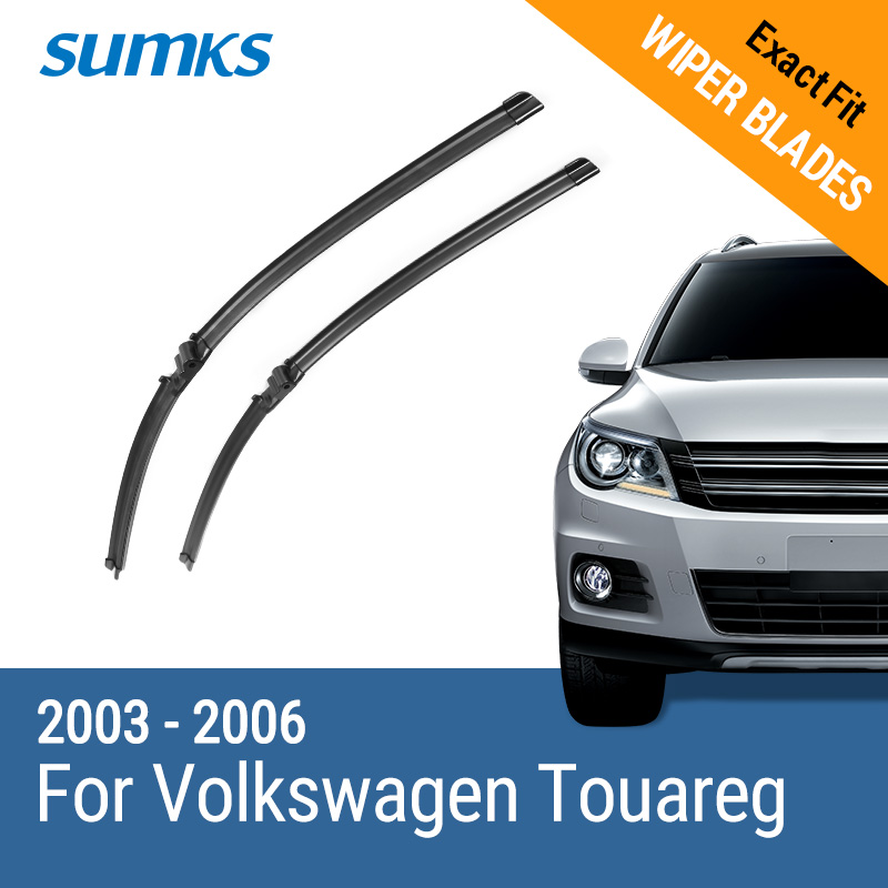 SUMKS Wiper Blades for Volkswagen Touareg 26&26 Fit Side Pin Arms 2003 2004 2005 2006