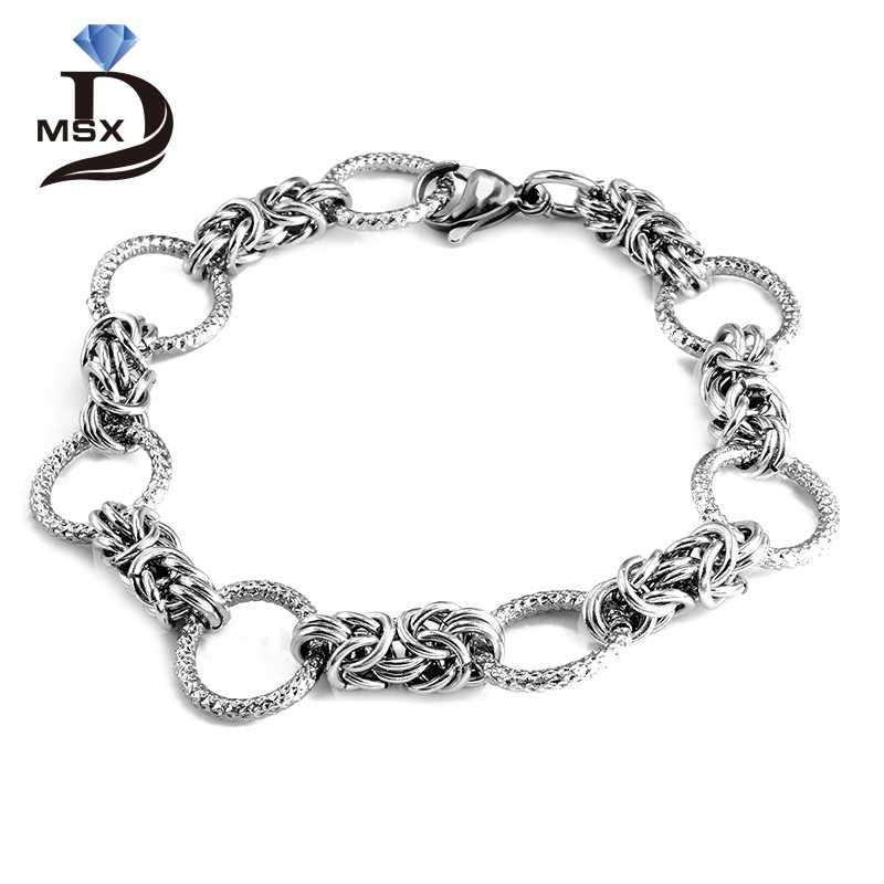 Trendy Silver Plating Link Chain Bracelet for Man Woman Stainless Steel Bangle Luxury Brand Wedding Party Jewelry Wristband Gift