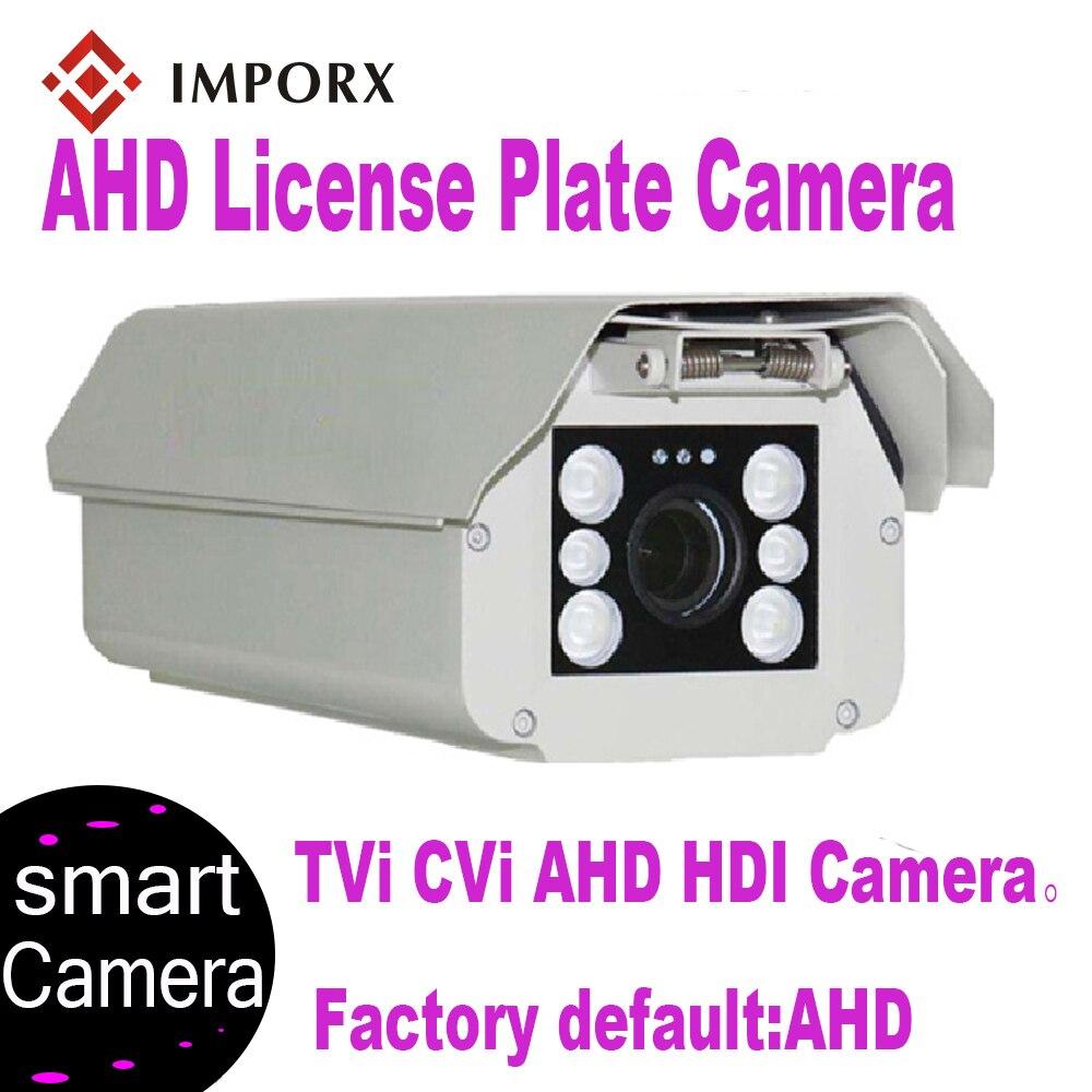 IMPORX voiture plaque numéro de reconnaissance d'immatriculation ANPR caméra AHD IP66 étanche 6 pièces 6-22mm lentille caméra avec LPR pour entrée et sortie