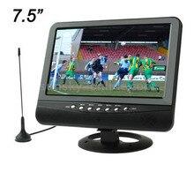 7.5 cal TFT LCD Kolor TELEWIZJI Analogowej o Szerokim Kącie Widzenia Obsługa KART SD/MMC USB Flash Disk (czarny)