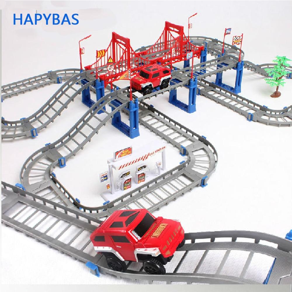 Shop For Cheap Hzirip Diy Children Toys Electric Rail Car Kids Train Track Model Slot Toy Baby Double Orbit Car Birthday Gift Free Shipping Toys & Hobbies
