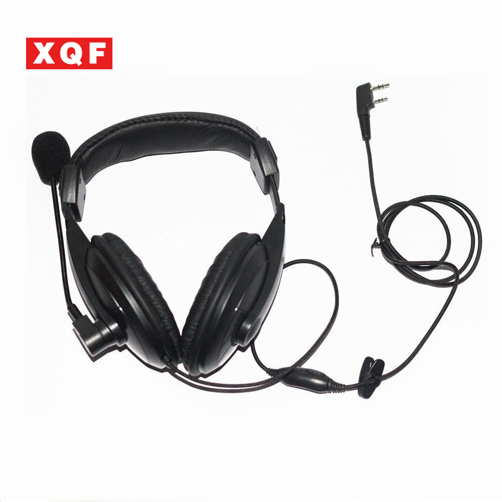 XQF Noise Cancelling Overhead Headset For Kenwood Radio TK-2100/3100 TK-2200/3200 Radio