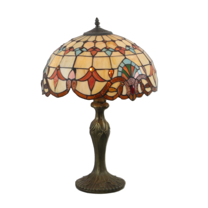 Atreus Table Lamps LED Desk Light Antique Bronze Rare Collectiable Brass Tiffany Lamp Shade for Living Bed Room free shipping