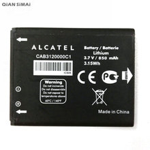 QiAN SiMAi 1 unids 100% OT880 OT710 CAB3120000C1 Batería de Alta Calidad Para Alcatel One Touch 768 OT888A OT880A + Tracking código