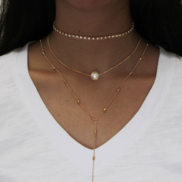 Premium Pearls Necklace Set 2
