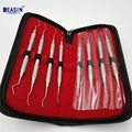 High quality Dental Gracey curettes Set of 8 Periodontal Scaler Calculus Stainless Steel scaler dental tool kit teeth cleaning