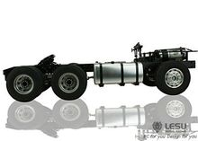 LESU 1/14 RC MAN 6*4 Metal Chassis Tractor Truck Model Car W/ Motor 3Axle Tamiya