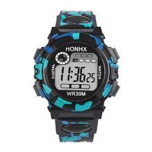 Момент # L05 2018 дети ребенок мальчик девочка Многофункциональный Водонепроницаемый спортивные электронные часы
