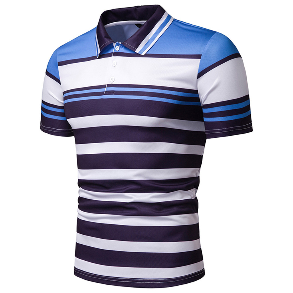 Fashion Men's Polo Shirt Casual T-shirts Tops Blouse Slim Fit Short Sleeve