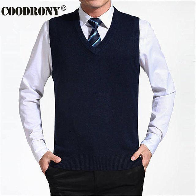 Мужской кашемировый пуловер безрукавка деловой стиль 3
