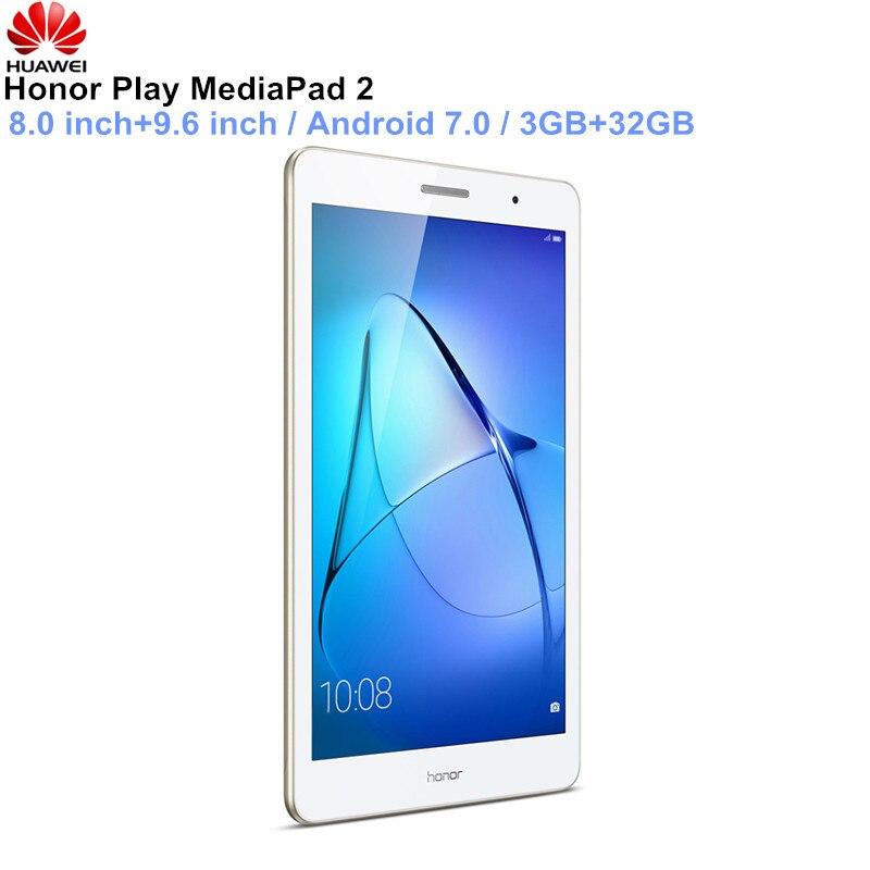 HUAWEI Honor Play MediaPad 2 планшеты 8,0/9,6 дюймов Android 7,0 3 ГБ 32 ГБ 800X4,1 Bluetooth 1280 Wi Fi поддержка gps OTG