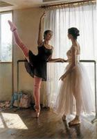 Canvas Painting Two Ballerina In The Exchange Of Ideas Print Painting On Canvas Wall Art Picture